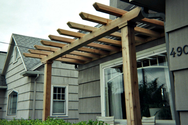 We build all sorts of custom outdoor structures & furniture - including planter boxes, pergolas, seating areas, & sheds.